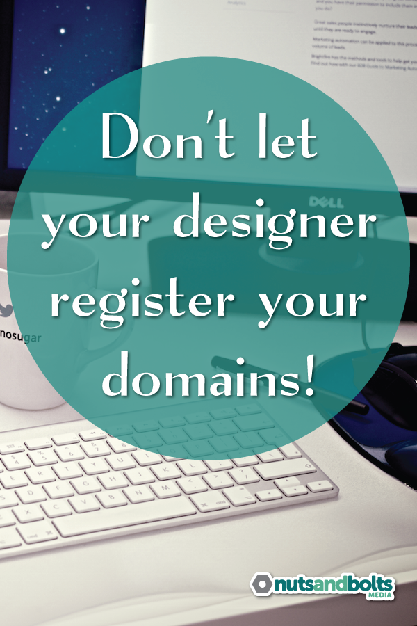 3 compelling reasons to register a domain yourself instead of letting someone else do it for you. via @awhitmer83