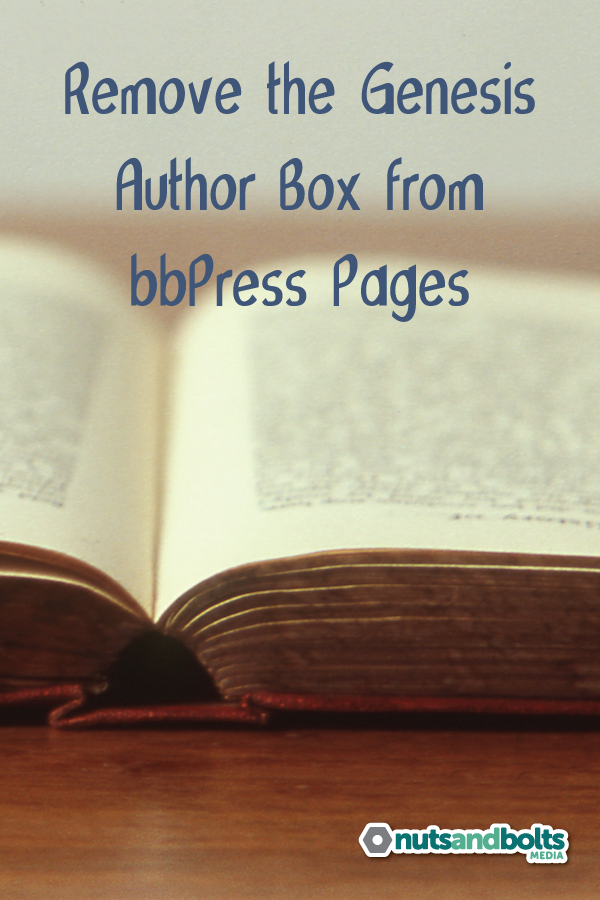 Need a function to hide the Genesis author box on your bbPress forum? This post will show you how it's done. via @nabmco