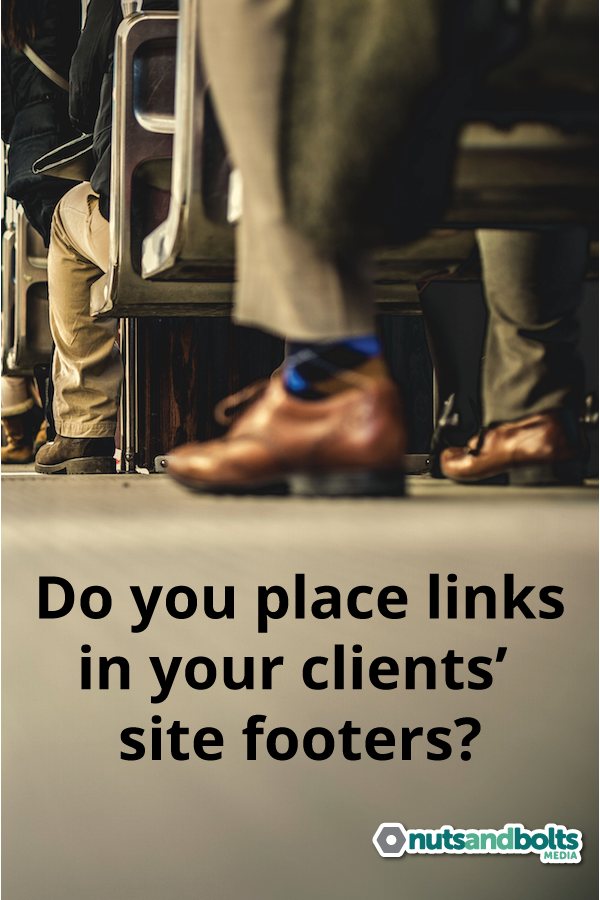 Should web designers place a link in the footer of client sites? Take the poll! via @nabmco