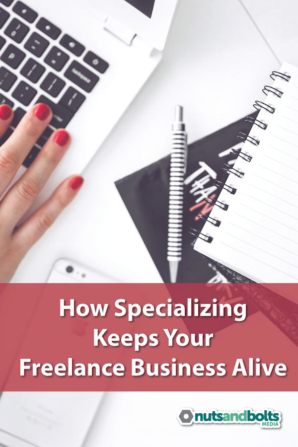 This article discusses the importance of specializing or choosing a niche for your freelance business. via @awhitmer83