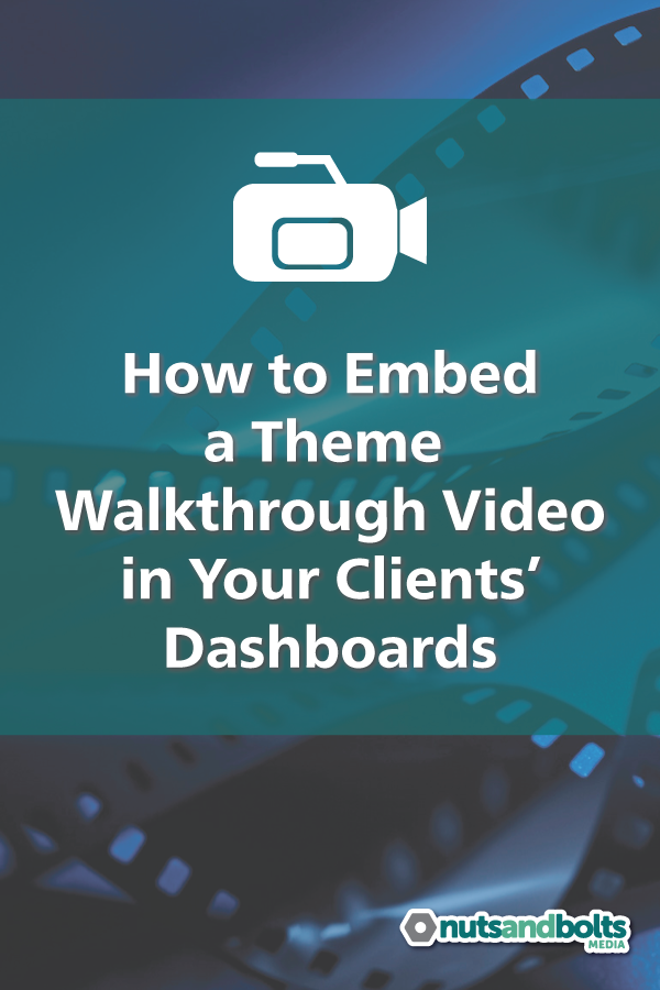 Creating a theme walkthrough video will make your WordPress project launches faster and easier for all involved. via @nabmco