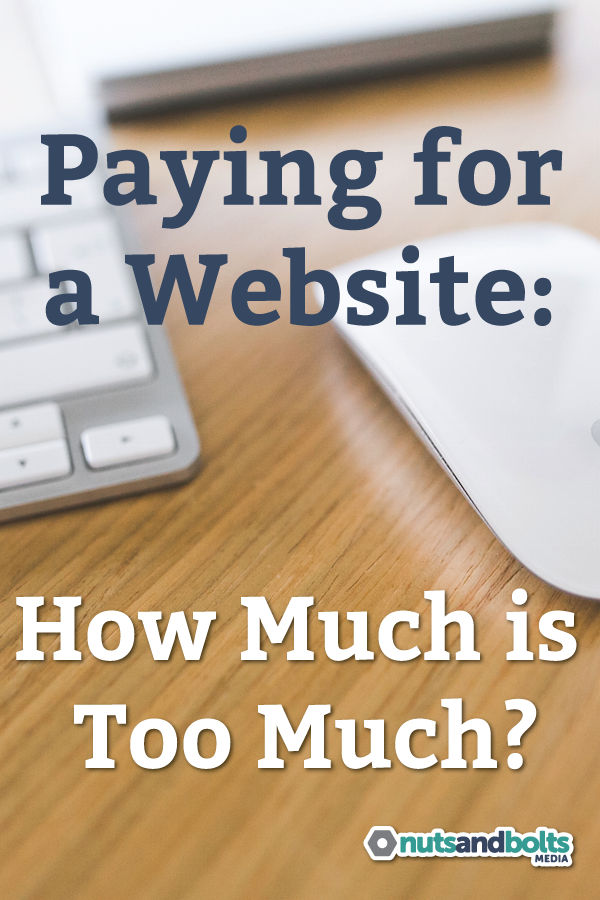 How do you decide what is fair to pay for a website? This article gives you some factors to consider.