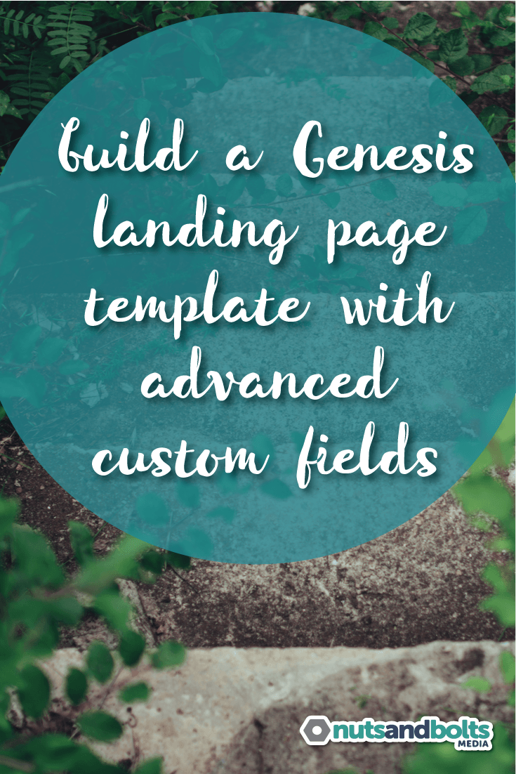 How to Build a Genesis Landing Page with ACF Pro - This tutorial walks you through all the steps (including project files) to create a custom Genesis landing page using the Advanced Custom Fields plugin. via @awhitmer83