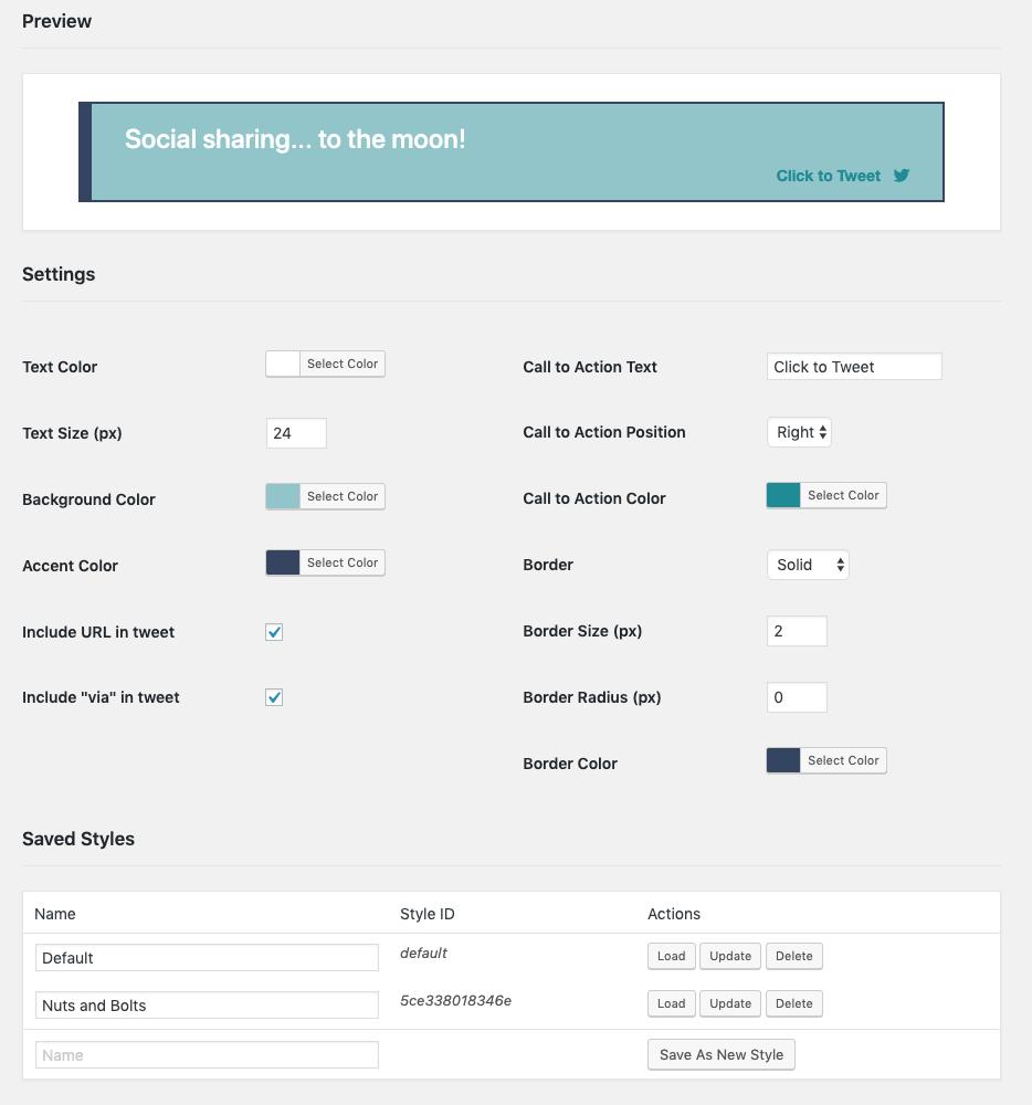 social rocket click to tweet builder screenshot